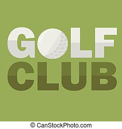 Golf Club Logo Design Template in Flat Style. Flyer design. Vector illustration
