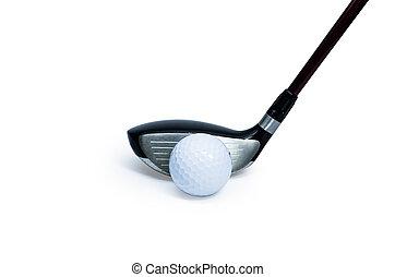 Golf club  - Modern golf club isolated on white background.
