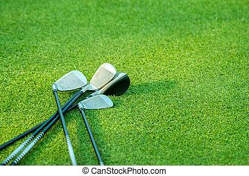 golf club on golf field