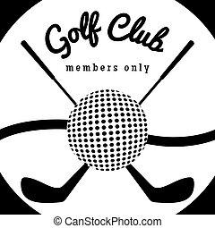 Golf club sport poster