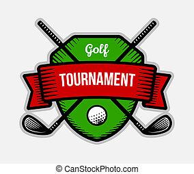 Golf club summer sport shield logo. - Golf vector logo....
