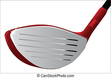 The head of a golf club isolated on a white background