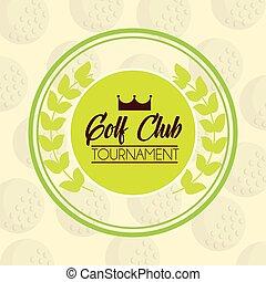 golf club tournament sport competition emblem