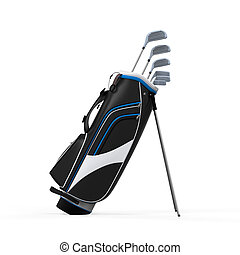 Golf Clubs and Bag Isolated - Golf Clubs and Bag isolated on...