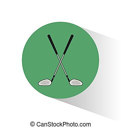 golf clubs crossed stamp