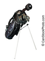 Golf-clubs in a bag isolated - Golf clubs in a bag isolated...