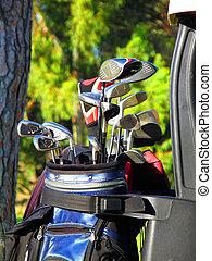 Golf clubs in bag