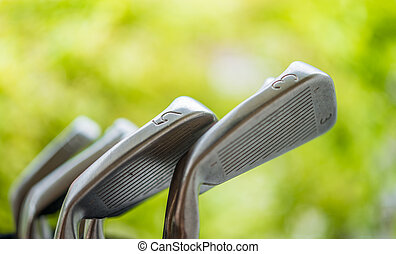 golf clubs in golf course