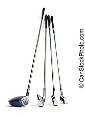 Golf clubs - New golf clubs on white isolated background
