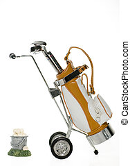 Golf Clubs with bag and Bucket of balls