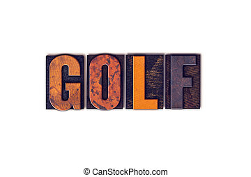 Golf Concept Isolated Letterpress Type