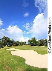 golf, course., beau