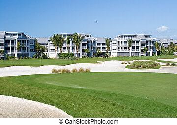 Golf Course Condos - Retirement community condos on a resort...