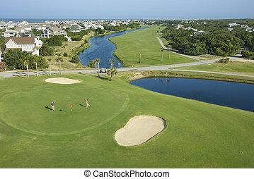golf, course., costero