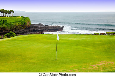 golf course  - Golf course on an ocean coast