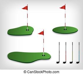 Golf course illustration