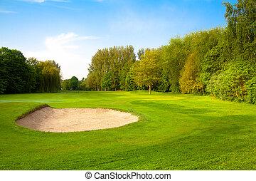 golf, course.