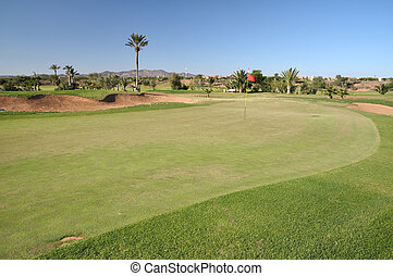 Golf course in Marrakech, Morocco