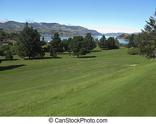 Golf course in New Zealand