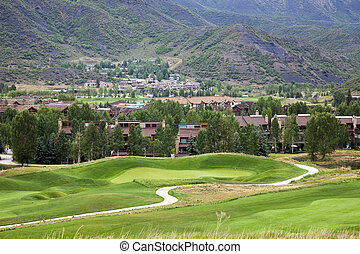 Golf Course in the mountains