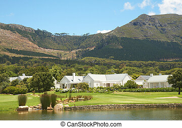 Golf course landscape in the mountains