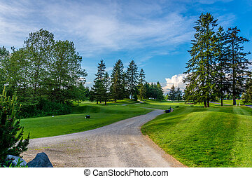 Golf Course near Fort Langley - The end of the day at a golf...