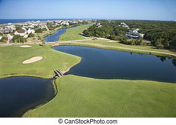 golf, course., parti