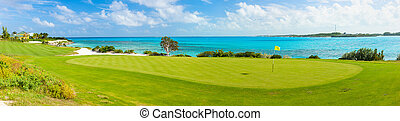 Stunning view of a coastal golf course