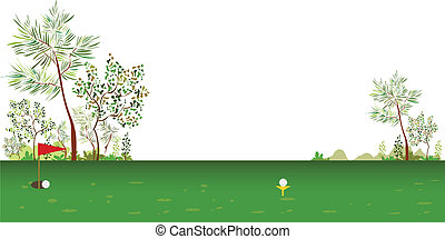 Golf course - This illustration is a common cityscape.