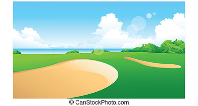 Golf Course - This illustration is a common natural...