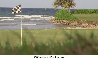 Golf course tropical island holiday