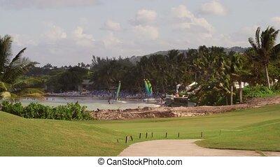 Golf course tropical island sports - Caribbean Resort golf...