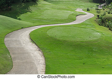 golf course with buggy lane