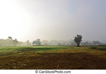 Golf court in the winter
