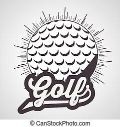 golf, diseño, club