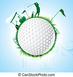golf - illustration of golf sport on white background
