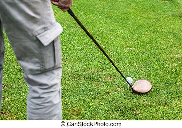 Golf driver hit