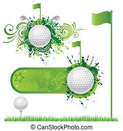 golf, elementi, disegno