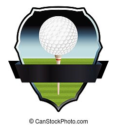 An illustration for a golf emblem and badge. Vector EPS 10 available. EPS file contains transparencies.