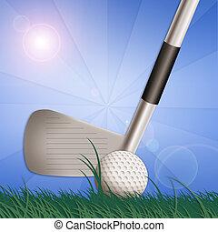 illustration of golf equipment