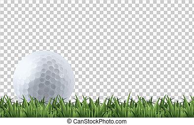 golf, fű, labda