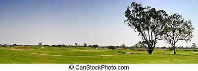 Golf Fairway - Panoramic shot of a golf fairway near Ventura