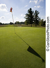 golf flag and shadow