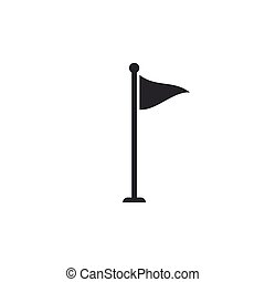 Golf flag icon isolated. Golf equipment or accessory. Flat design. Vector Illustration