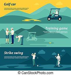 Golf Flat Banner Set