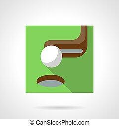 Golf flat color vector icon