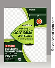 golf flyer template design