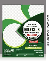 golf flyer template  & magazine