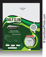 GOLF FLYER TEMPLATE VECTOR