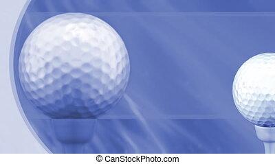 golf, fond, boucle, sports